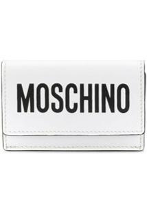 Moschino Carteira Mini Com Logo - Branco