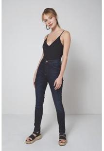 Calça Jeans Oh, Boy!Marylin Bigode Feminina - Feminino-Azul