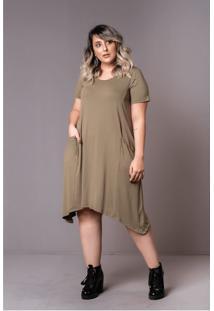 Vestido Comfy Verde Militar Plus Size