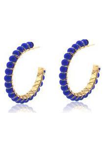 Brinco Le Diamond Argola Apolline Azul