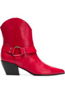 Deimille Cuban Heel Ankle Boots - Vermelho