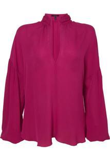 Camisa Rosa Chá Lordy 1 Seda Rosa Feminina (Magenta Haze, P)