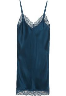 Camisola De Seda - Preto Camisola De Seda -Azul -M