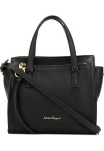 Salvatore Ferragamo Bolsa Tote Double Handle - Preto