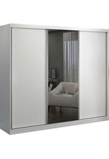 Guarda-Roupa Casal 3 Portas De Correr 1 Espelho Branco M Foscarini - Branco - Dafiti