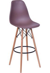 Banqueta Eames Dkr- Café & Madeira Clara- 106X56X56Cor Design