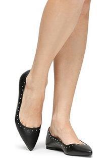 Sapatilha Couro Shoestock Cravinhos Feminina - Feminino