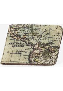 Carteira Maps 300080-Bege-Único