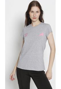 """Blusa """"3""""- Cinza & Rosaclub Polo Collection"""