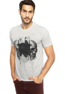 Camiseta Cavalera Caveira Dividida Cinza