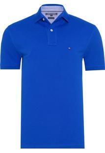 Polo Masculina Tommy Knit - Azul