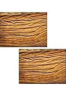 Jogo Americano Colours Creative Photo Decor - Textura De Madeira - 2 Peças