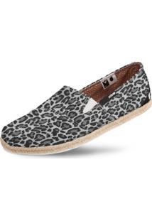 Alpargata Usthemp Corda Vegano Casual Estampa Leopard Marrom