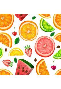 Papel Adesivo Sunset Adesivos De Parede Frutas Coloridas Fundo Branco - Rolo 3,00 X0,50 M