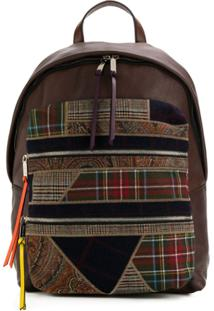 Etro Plaid Detailed Backpack - Marrom