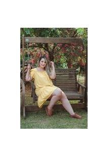 Vestido Hadassa Summer Plus Size Domenica Solazzo Vestidos Curtos Amarelo