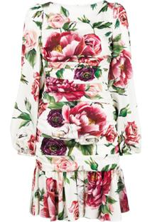 Dolce & Gabbana Vestido Floral - Branco