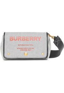 Burberry Bolsa Transversal Com Estampa Horseferry - Preto