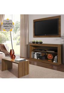"""Rack Com Painel E Suporte Para Tv Atã© 55"""" Com Mesa De Centro Inovare Multimã³Veis Duna - Incolor - Dafiti"""