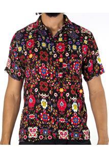 Camisa Andy Roll Clothing Grumm Card Preta
