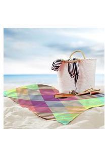 Toalha De Praia / Banho Traços Geometricos Color One Único