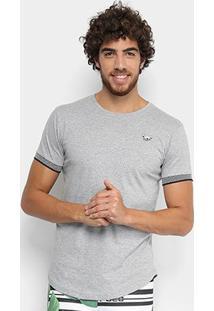 Camiseta Rg 518 Long Punho Xadrez Masculina - Masculino-Grafite