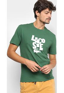 Camiseta Lacoste Estampada Logo Masculina - Masculino