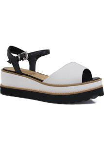 Sandália Zariff Shoes Plataforma Tratorado Preto