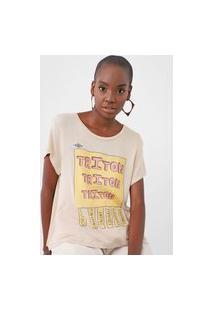 Camiseta Triton Lettering Bege