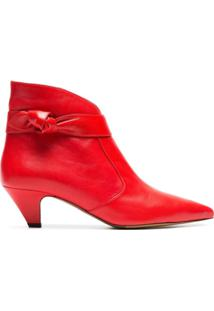 Tabitha Simmons Ankle Boot De Couro 'Nixie 50' - Vermelho