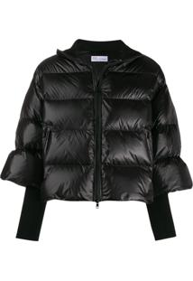 Red Valentino Cropped Puffer Jacket - Preto