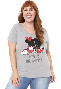 Blusa Cativa Disney Plus Love Cinza