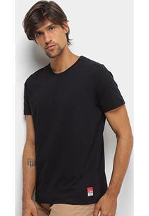 Camiseta Coca-Cola Básica Masculina - Masculino-Preto