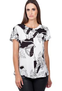 Blusa Love Poetry Viscose Preto Estampada