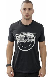 Camiseta Cheiro De Gasolina Painel De Fusca Preta