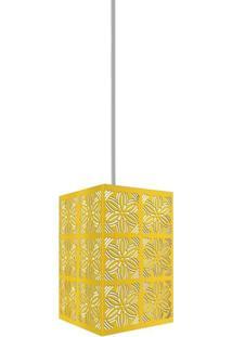 Luminária Pendente Taschibra Renda 102 E27 Amarela Bivolt