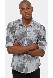 Camisa Calvin Klein Floral Strone Masculina - Masculino