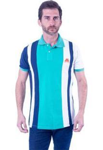 Camisa Polo Hipica Polo Club Trios Jade Masculina - Masculino-Verde+Branco