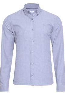 Camisa Masculina Regular Fit - Azul