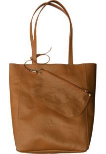 Bolsa Line Store Sacola Shopper N1 Couro Caramelo.