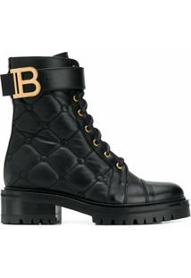 Balmain Ankle Boot Ranger Matelassê - Preto