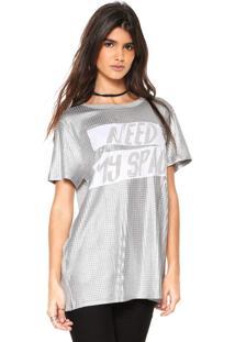 Camiseta My Favorite Thing(S) Alongada Cinza - Cinza - Feminino - Viscose - Dafiti