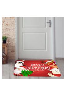 Tapete De Natal Para Porta Christmas Único