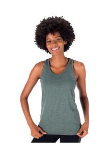 Camiseta Regata Oxer Campeão New Classic Ii - Feminina - Aqua Mescla