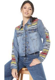 Jaqueta Jeans Dress To Jacquard Azul