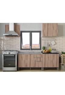 Cozinha Compacta 6 Portas Essence Branco/Desira/Preto - Aroma