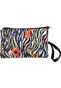 Necessaire Clássica Em Neoprene Tritengo - Zebra Floral - Feminino