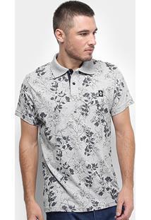 Camisa Polo Fatal Floral Masculina - Masculino-Mescla