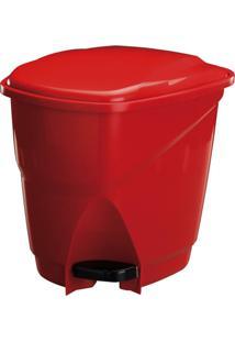 Lixeira Ecológica Com Pedal 16L Astra Vermelho