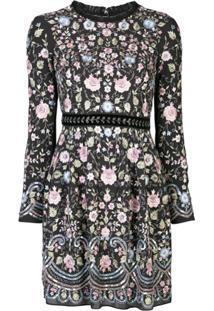 Needle & Thread Vestido Com Bordado Floral - Estampado